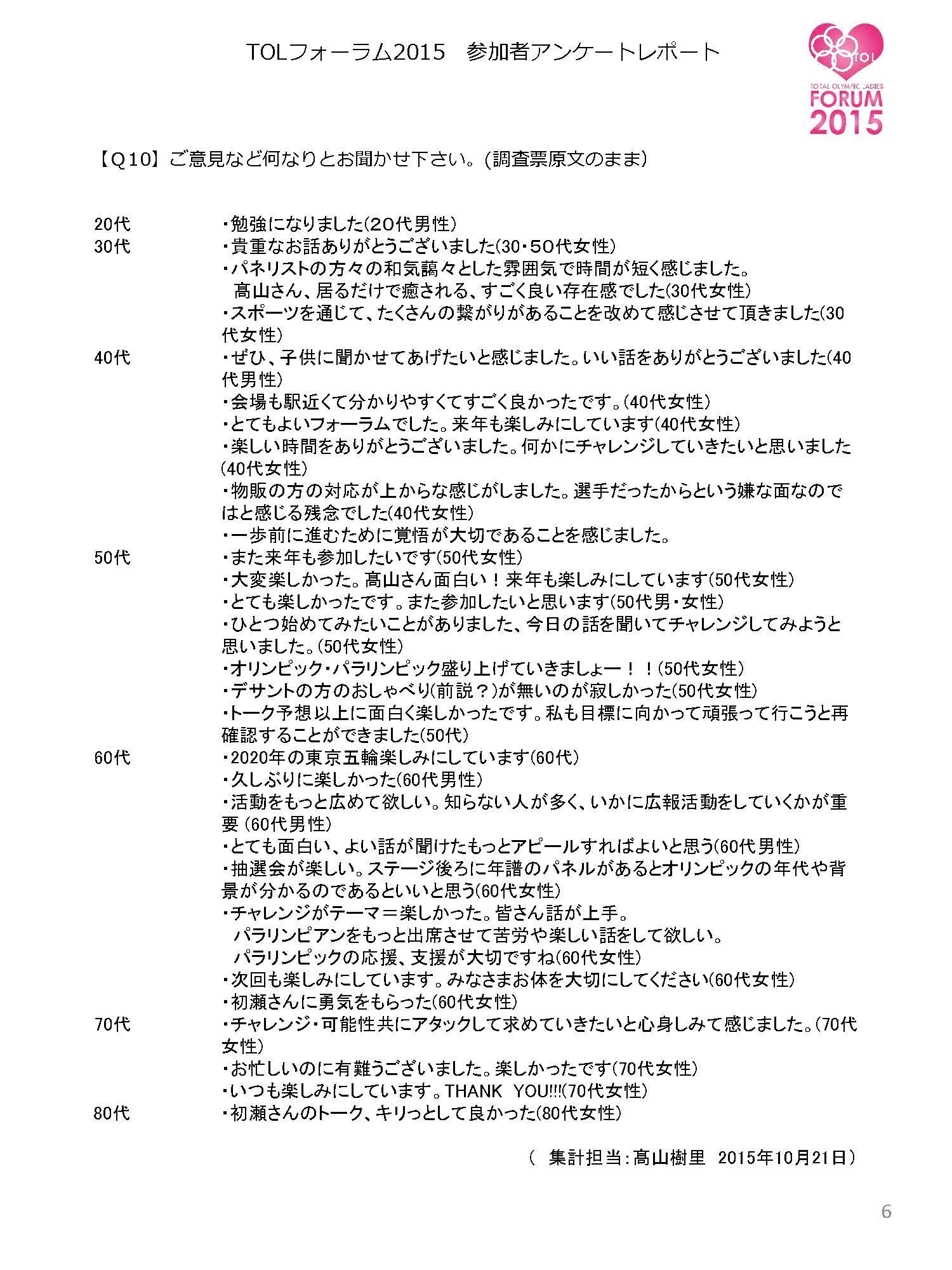 「TOLフォーラム2015」アンケート集計報告書_ページ_6