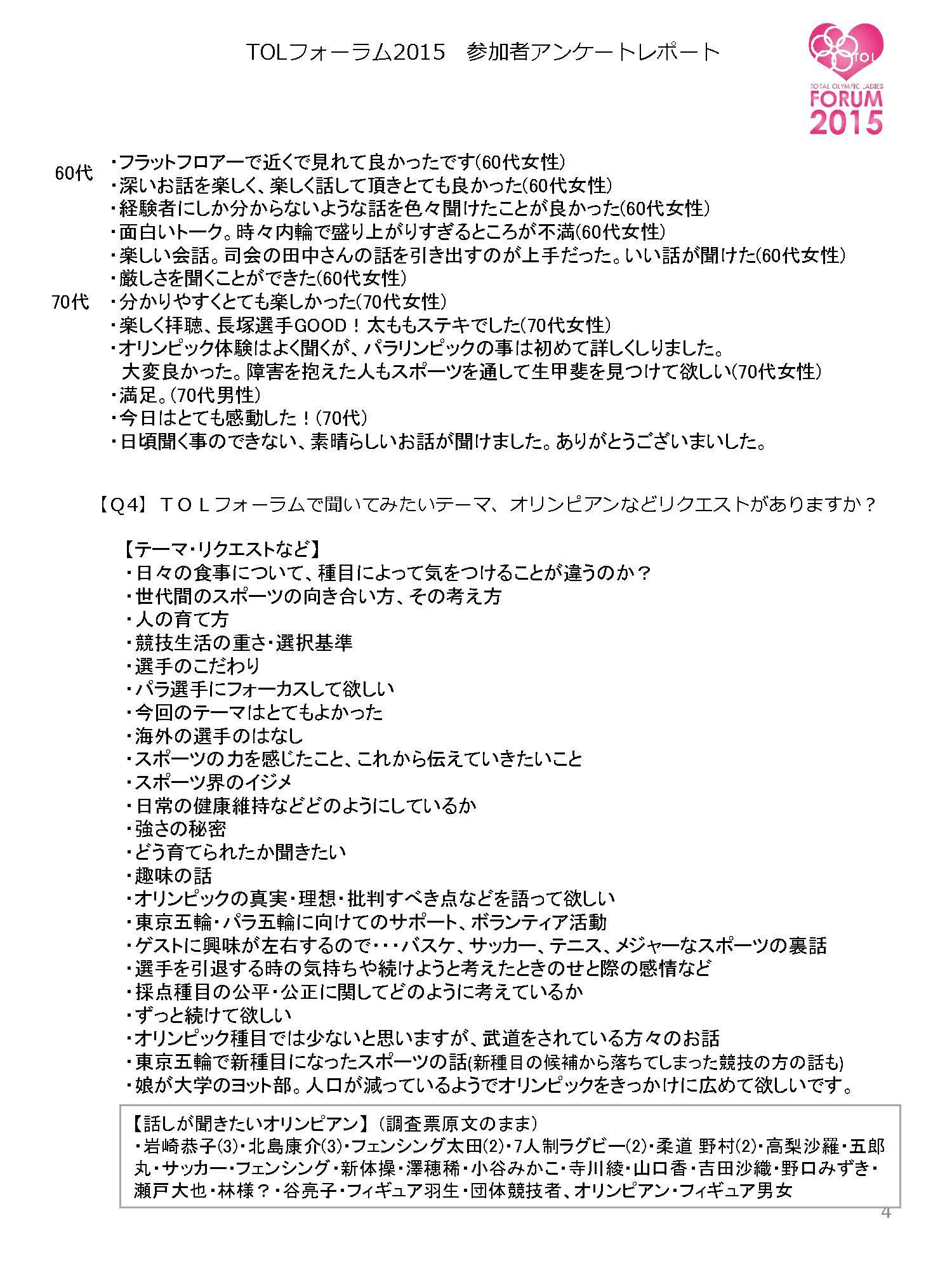 「TOLフォーラム2015」アンケート集計報告書_ページ_4