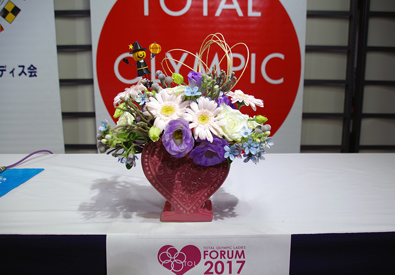TOLフォーラム2017 神保康広さん用に飾ったお花