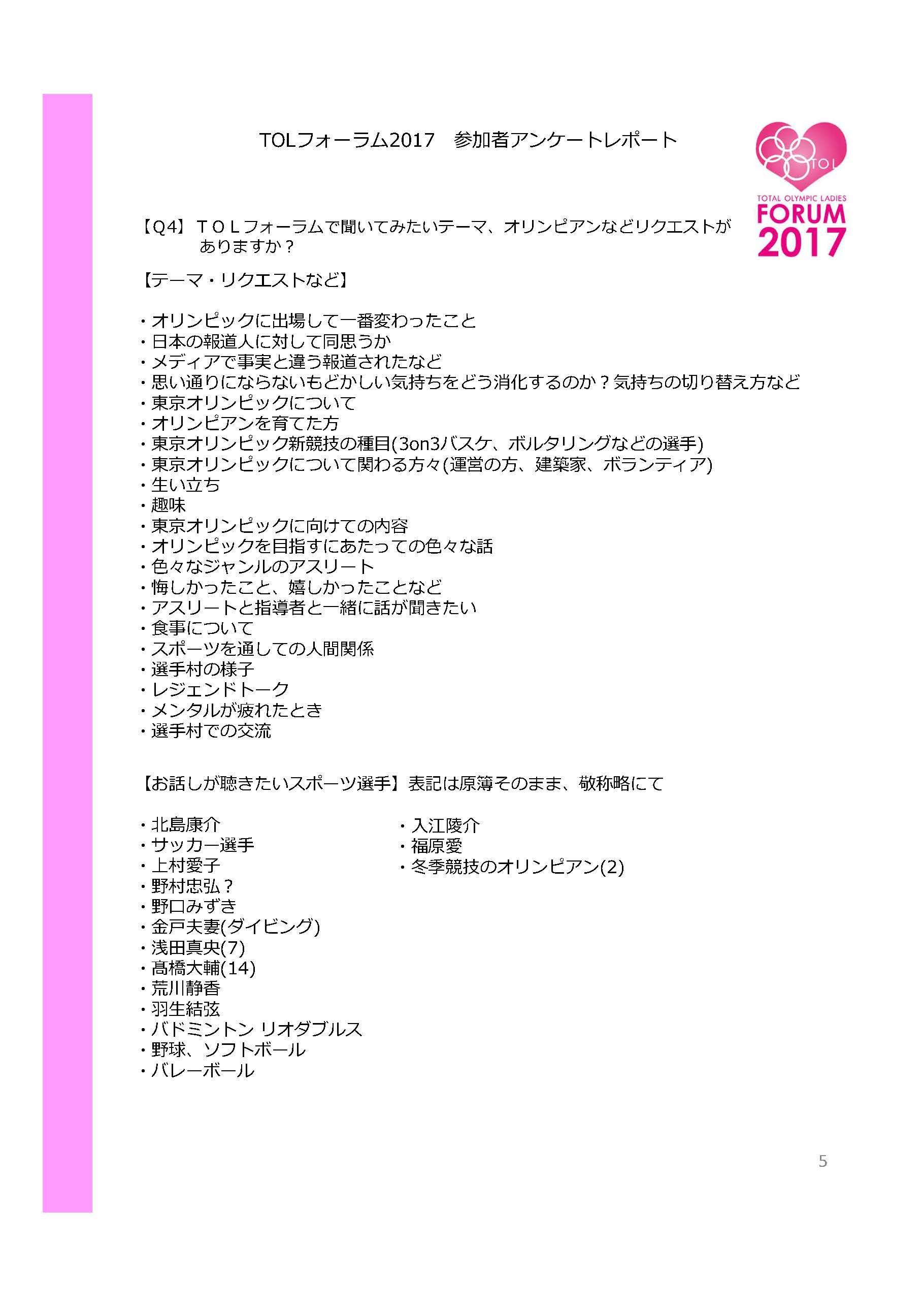 「TOLフォーラム2017アンケート集計報告書 集計:高山樹里、作成:金光貞幸