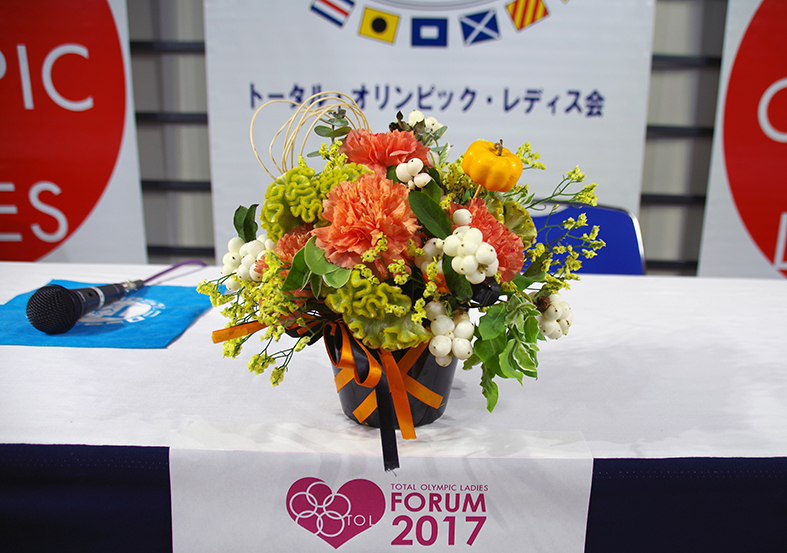 TOLフォーラム2017 高橋大輔さん前のお花